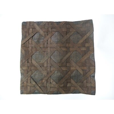Candace Linen Pillow Cover Color: Brown