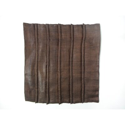 Shaina Linen Pillow Cover Color: Brown, Size: 18 x 18