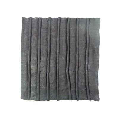 Shaina Linen Pillow Cover Color: Black, Size: 21 x 21