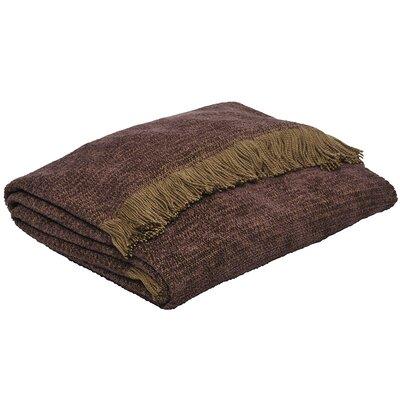 Chesapeake Throw Blanket Color: Aubergine