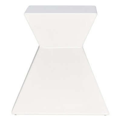 Ditto End Table Color: White