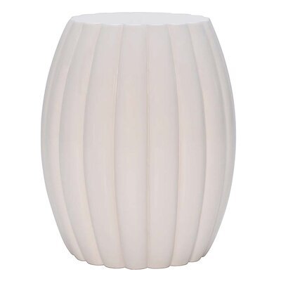 Chrysanthemum End Table Color: Matte White