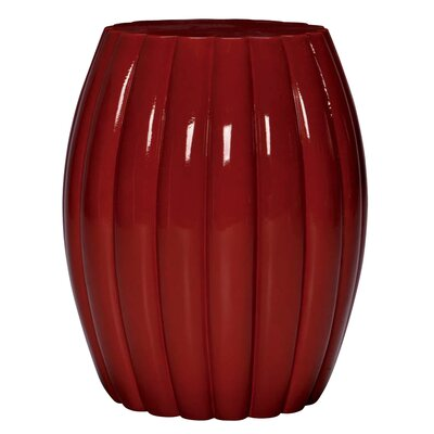 Chrysanthemum End Table Color: Glossy Ruby