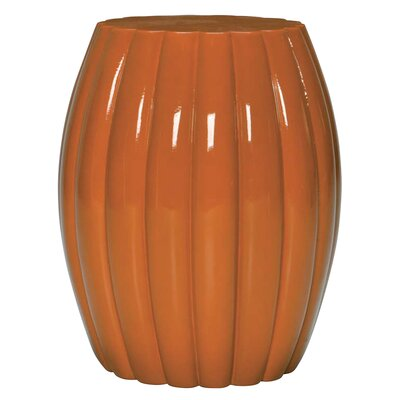 Chrysanthemum End Table Color: Glossy Marigold