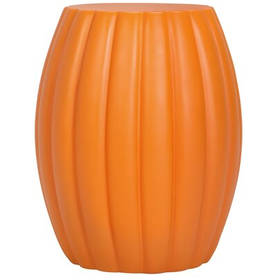 Chrysanthemum End Table Color: Matte Marigold