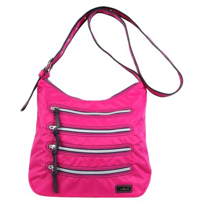HADAKI Nylon Millipede Hobo Bag - Color: Fuschia / Navy