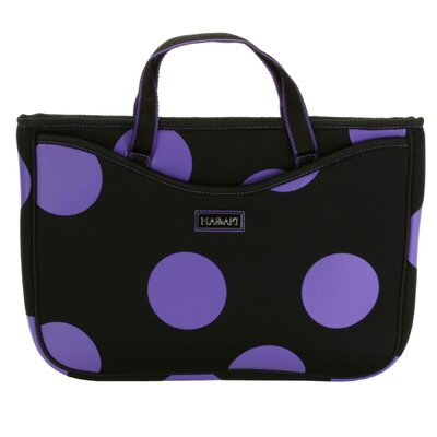 Large Neoprene Laptop Sleeve in Bubbles Plum