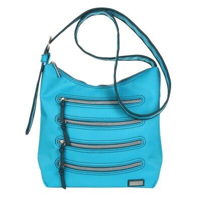 HADAKI Nylon Millipede Hobo Bag - Color: Teal