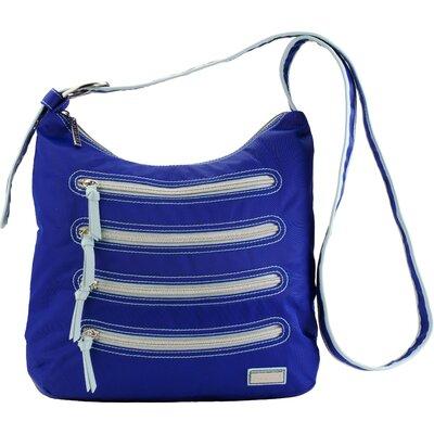 HADAKI Nylon Millipede Hobo Bag - Color: Cobalt / Aqua
