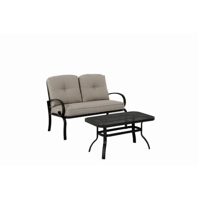 2 Piece Bench Seating Group with Cushion