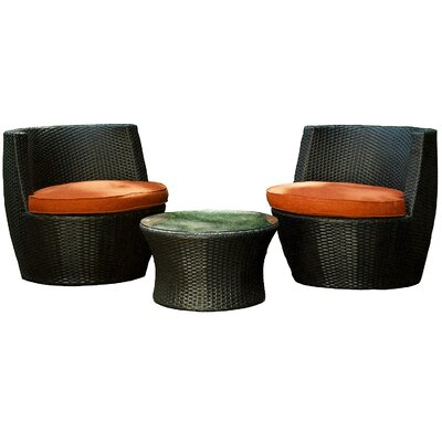 Sunbrella 3 Piece Seating Group with Cushion