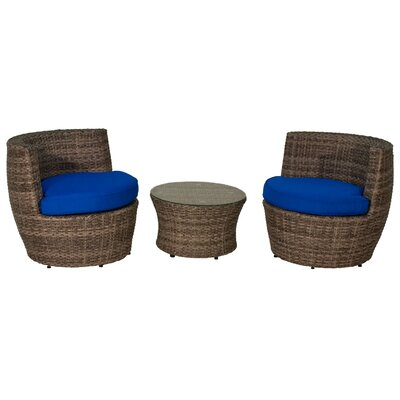 Sunbrella 3 Piece Seating Group with Cushions