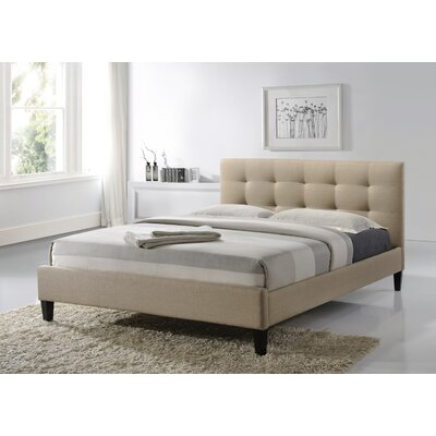 Parsons Upholstered Platform Bed Size: Queen, Upholstery: Beige