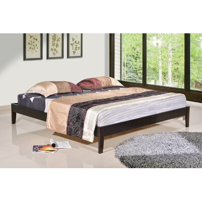 Manhattan Platform Bed Size: King, Color: Espresso