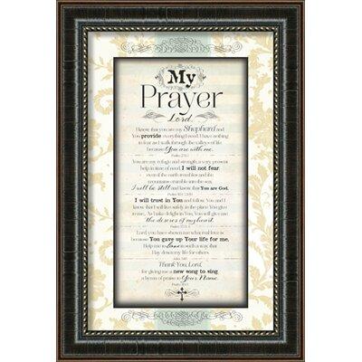 My Prayer Framed Textual Art