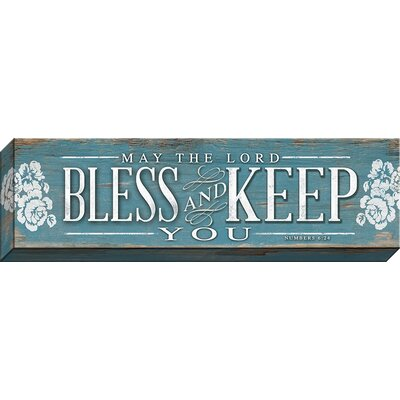 May The Lord Bless Horizontal Giclee Textual Art On Wrapped Canvas