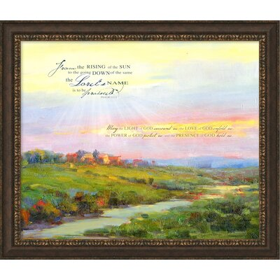 May The Light Of God Framed Painting Print