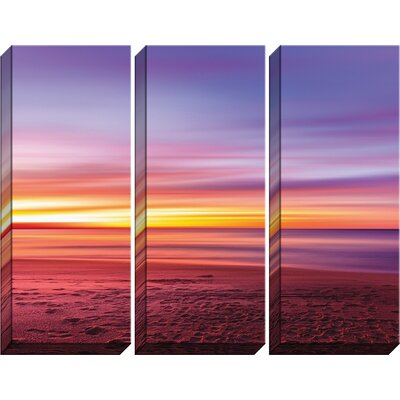 'Beach Tryptic' Photographic Print Multi-Piece Image on Canvas