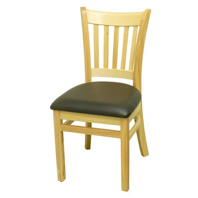 Side Chair Upholstery: Black, Finish: Natural