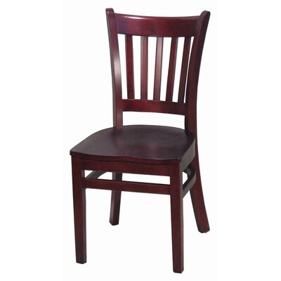 Side Chair Finish: Mahogany, Upholstery: Not Upholstered