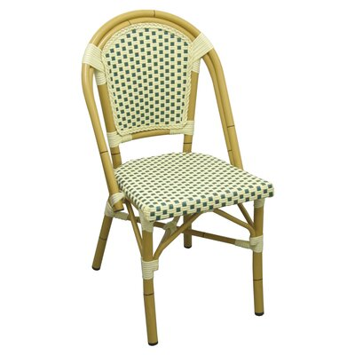 Aluminum Two Tone Outdoor Chair Finish: Gray