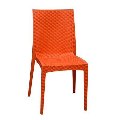 Dining Side Chair Finish: Orange
