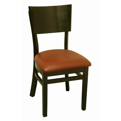 Side Chair Upholstery: Burgundy Vinyl
