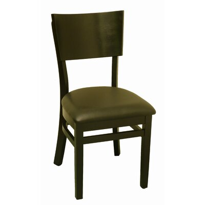 Side Chair Upholstery: Black Vinyl