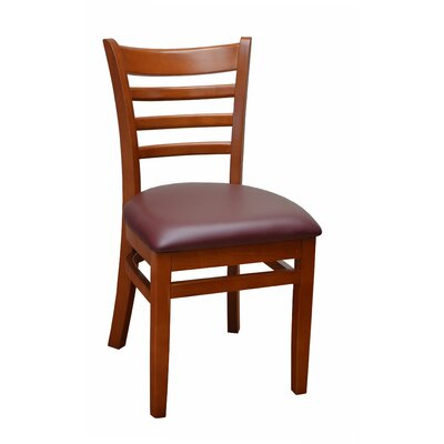 Side Chair Finish: Mahogany, Upholstery: Burgundy