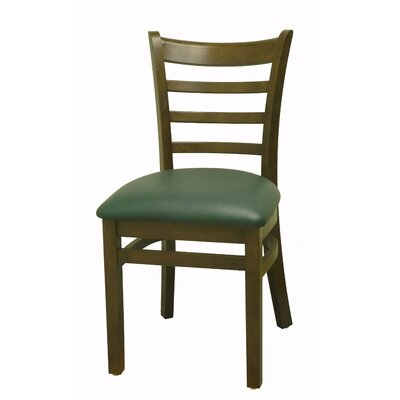 Side Chair Finish: Cherry, Upholstery: Green