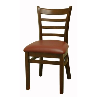 Side Chair Finish: American Walnut, Upholstery: Burgundy