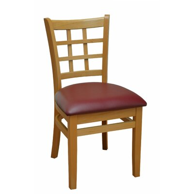 Side Chair Finish: Natural, Upholstery: Burgundy