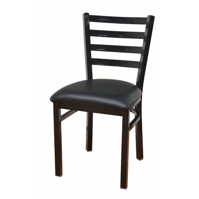 Side Chair Upholstery: Glossy Black