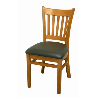 Side Chair Finish: Mahogany, Upholstery: Black