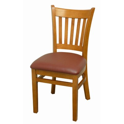 Side Chair Finish: Cherry, Upholstery: Burgundy