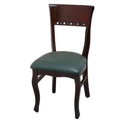 Side Chair Upholstery: Green