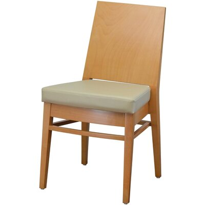 19 Side Chair Finish: Natural, Upholstery: Camel