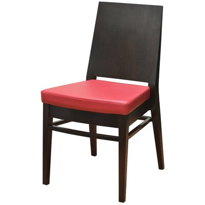 19 Side Chair Finish: Walnut, Upholstery: Red