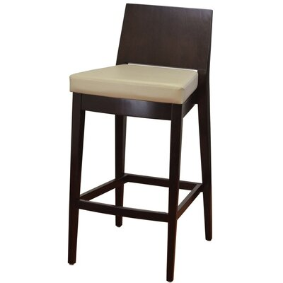 31 Bar Stool Finish: Walnut, Upholstery: Camel