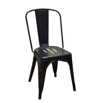 Stackable Steel Side Chair Finish: Black