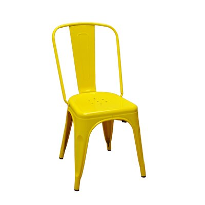 Stackable Steel Side Chair Finish: Yellow