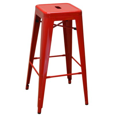 Bar Stool Finish: Red