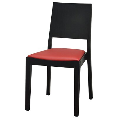 Modern Style Stacking Upholstered Dining Chair Upholstery: Red
