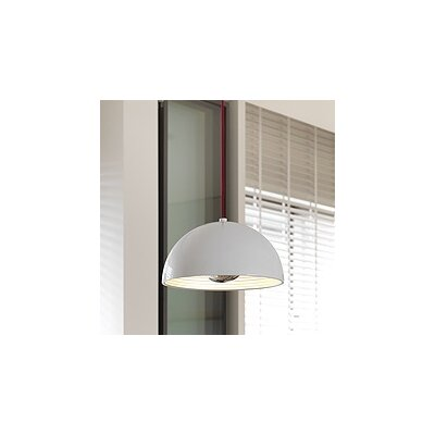 1-Light Dome Inverted Pendant Shade Color: White, Size: Medium