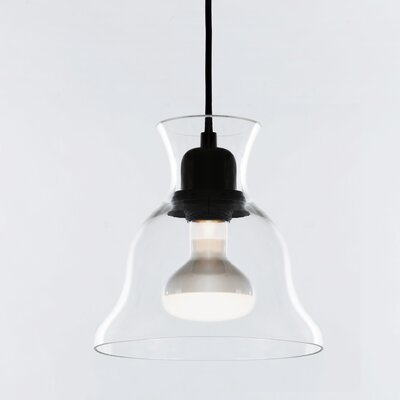 Salute 1-Light Inverted Pendant Shade Color: Clear