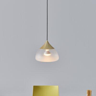 Mist 1-Light Bowl Pendant Color: Matte Brass