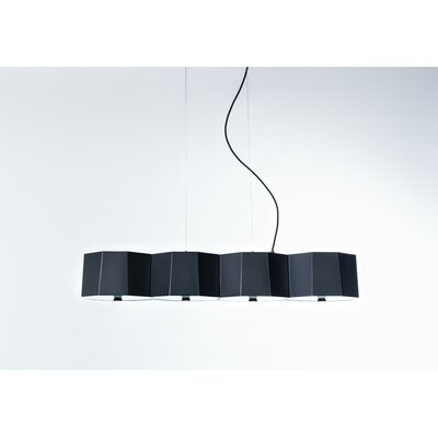 Zhe 4-Light Kitchen Island Pendant Shade Color: Black