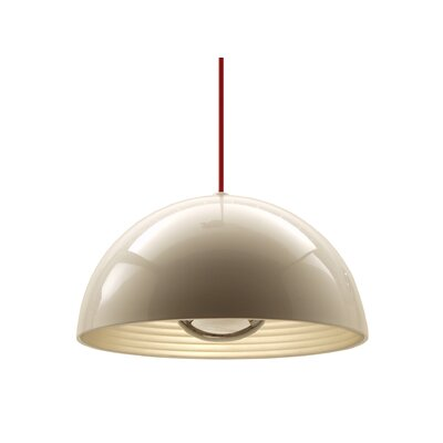 1-Light Dome Inverted Pendant Size: Medium, Shade Color: Chrome