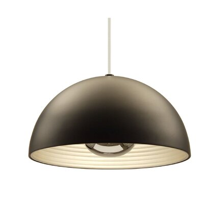 1-Light Inverted Pendant Shade Color: Black, Size: Large