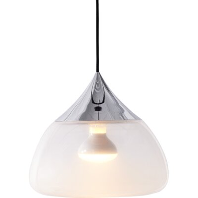 Mist 1-Light Bowl Pendant Color: Chrome
